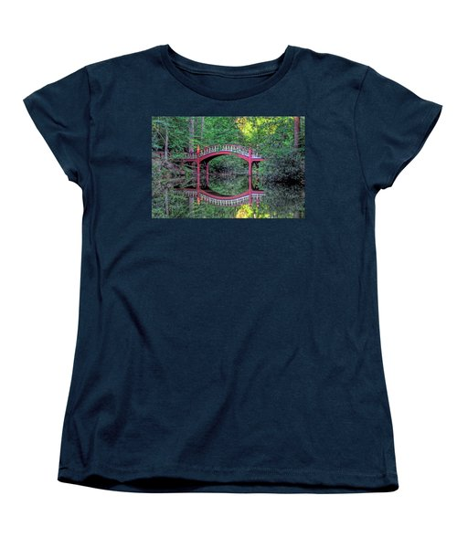 Crim Dell Bridge In Summer Women's T-Shirt (Standard Cut) by Jerry Gammon