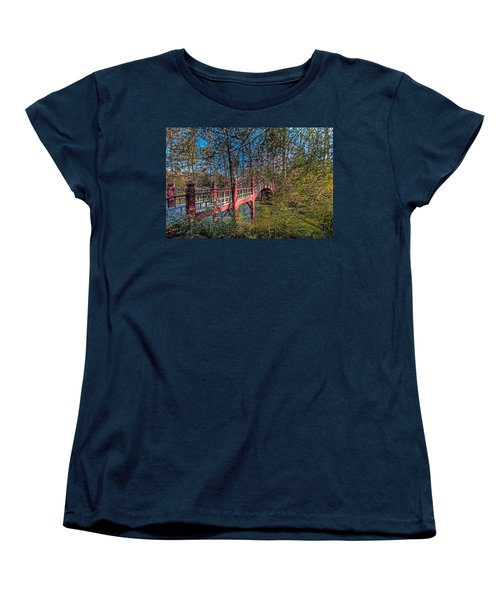 Women's T-Shirt (Standard Cut) featuring the photograph Crim Dell Bridge by Jerry Gammon