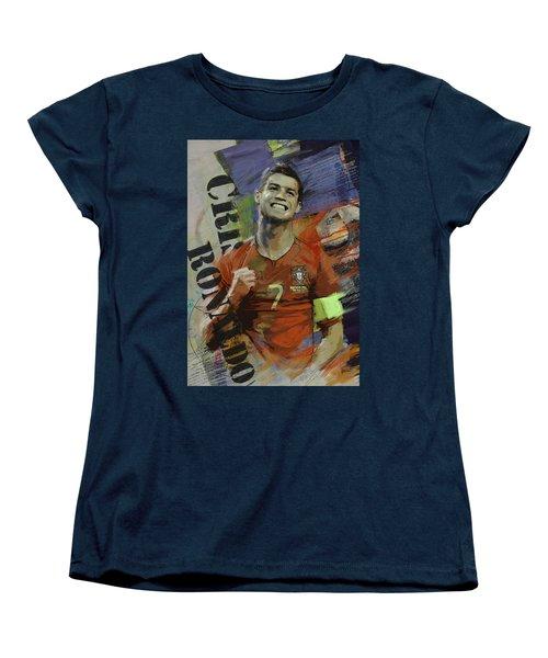 Cristiano Ronaldo - B Women's T-Shirt (Standard Cut) by Corporate Art Task Force