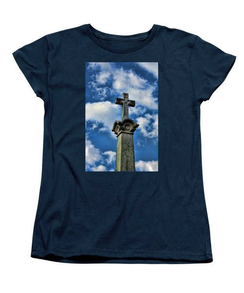 Women's T-Shirt (Standard Cut) featuring the photograph Cross Face 3 by Lesa Fine