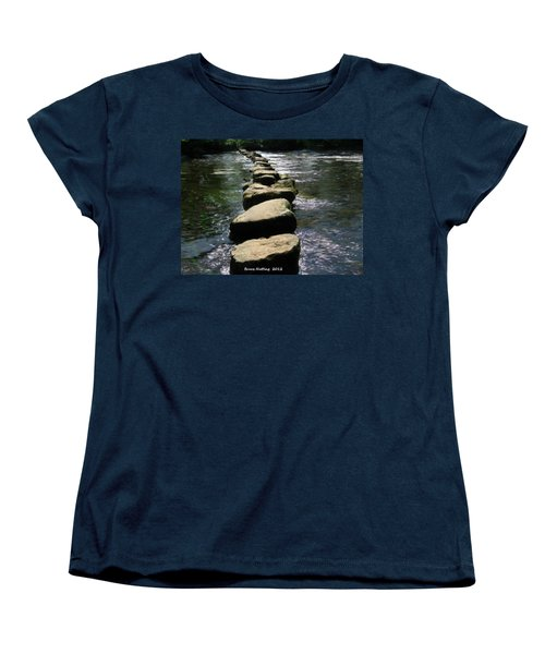 Women's T-Shirt (Standard Cut) featuring the painting Crossing The Creek by Bruce Nutting