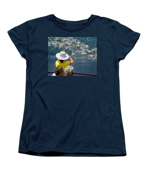 Women's T-Shirt (Standard Cut) featuring the photograph Cruising The Amalfi Coast by Keith Armstrong