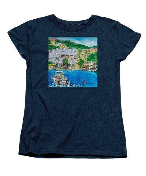 Cruz Bay St. Johns Virgin Islands Women's T-Shirt (Standard Cut) by Frank Hunter