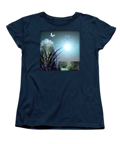 Crystal Breathing Rock Women's T-Shirt (Standard Cut) by Rosa Cobos