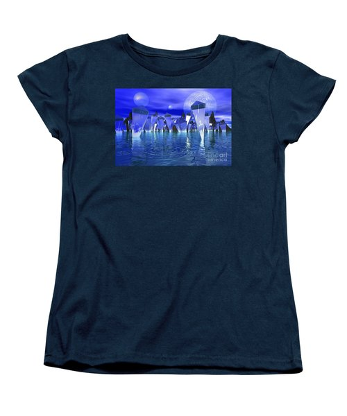 Women's T-Shirt (Standard Cut) featuring the photograph Crystal River by Mark Blauhoefer
