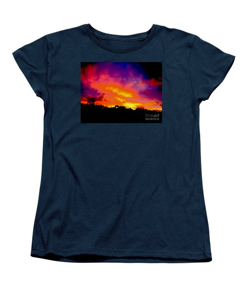 Women's T-Shirt (Standard Cut) featuring the photograph Crystal Sunrise by Mark Blauhoefer