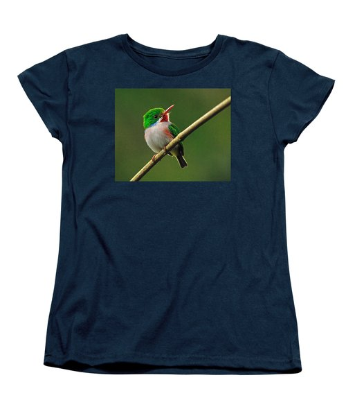Cuban Tody Women's T-Shirt (Standard Cut) by Tony Beck