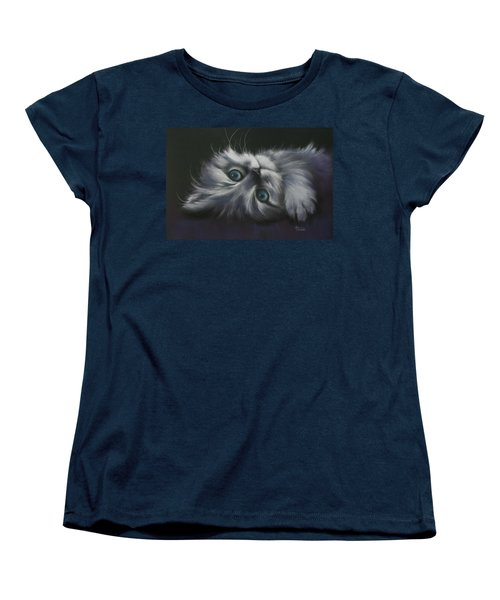 Women's T-Shirt (Standard Cut) featuring the drawing Cuddles by Cynthia House