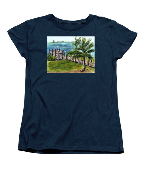 Cudjoe Dock Women's T-Shirt (Standard Cut) by Clara Sue Beym