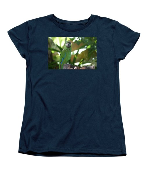 Curacao Parrot Women's T-Shirt (Standard Cut) by Living Color Photography Lorraine Lynch
