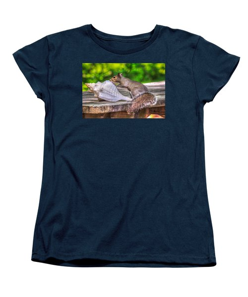 Women's T-Shirt (Standard Cut) featuring the photograph Curious Squirrel by Rob Sellers