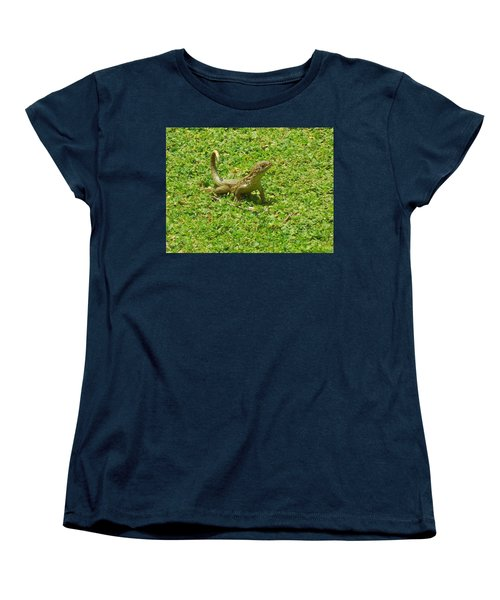 Curly-tailed Lizard Women's T-Shirt (Standard Cut) by Ron Davidson