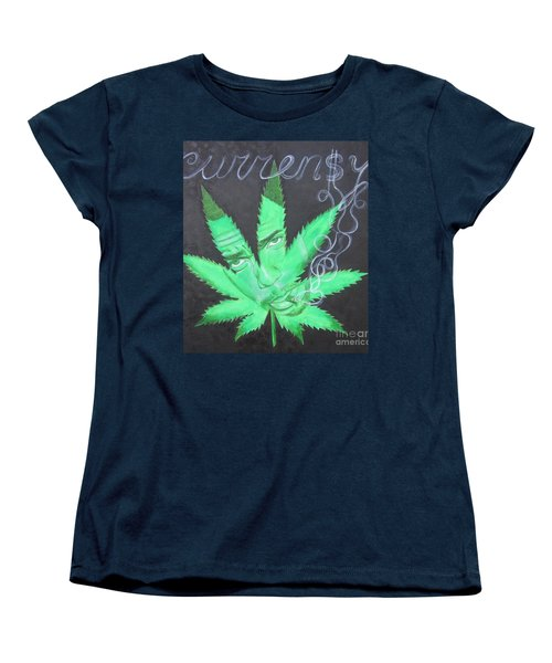 Women's T-Shirt (Standard Cut) featuring the painting Currensy by Jeepee Aero