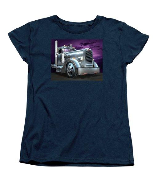 Custom Peterbilt Silver Ghost Women's T-Shirt (Standard Cut) by Stuart Swartz