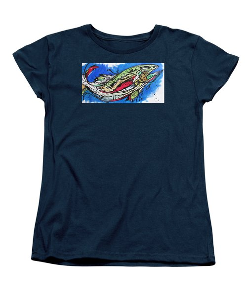 Women's T-Shirt (Standard Cut) featuring the painting Cutty by Nicole Gaitan
