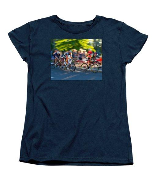 Cycling Pursuit Women's T-Shirt (Standard Cut) by Kevin Desrosiers