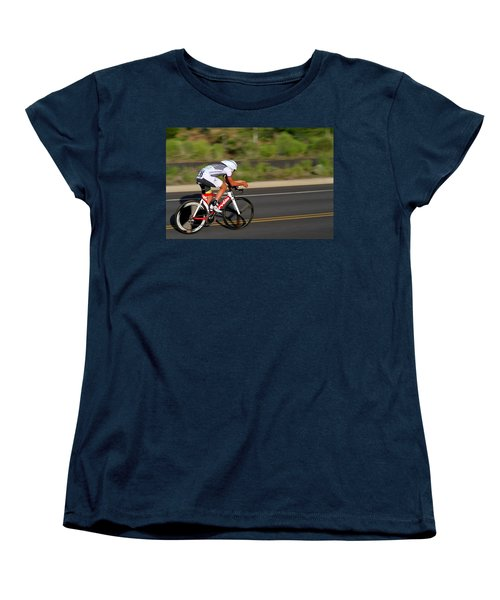 Women's T-Shirt (Standard Cut) featuring the photograph Cycling Time Trial by Kevin Desrosiers