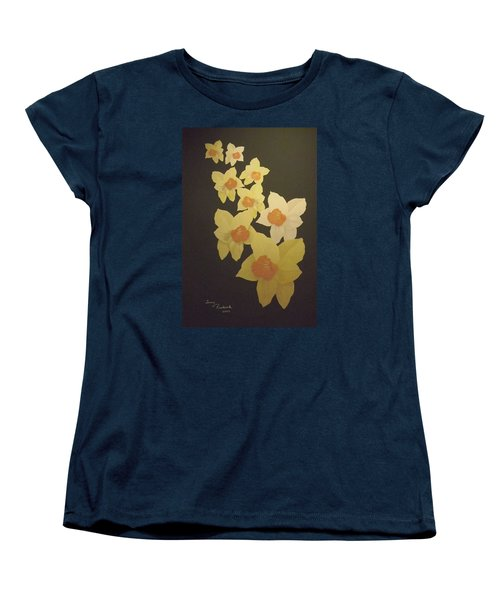 Daffodils Women's T-Shirt (Standard Cut) by Terry Frederick