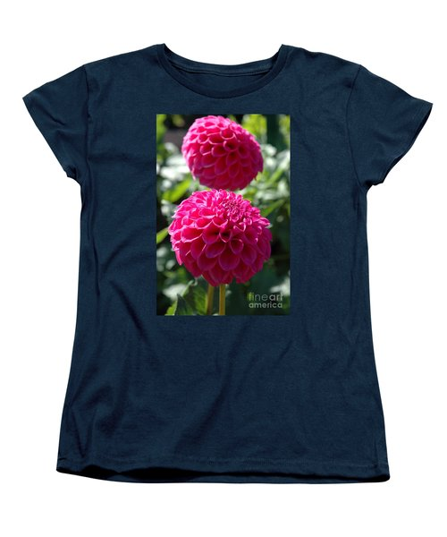 Women's T-Shirt (Standard Cut) featuring the photograph Dahlia Xi by Christiane Hellner-OBrien