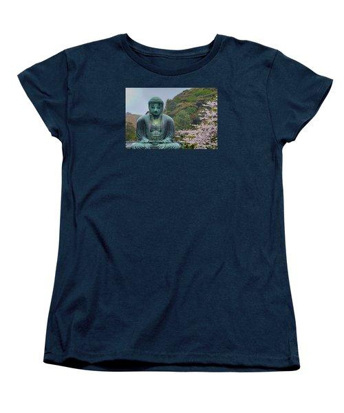 Daibutsu Buddha Women's T-Shirt (Standard Cut) by Alan Toepfer