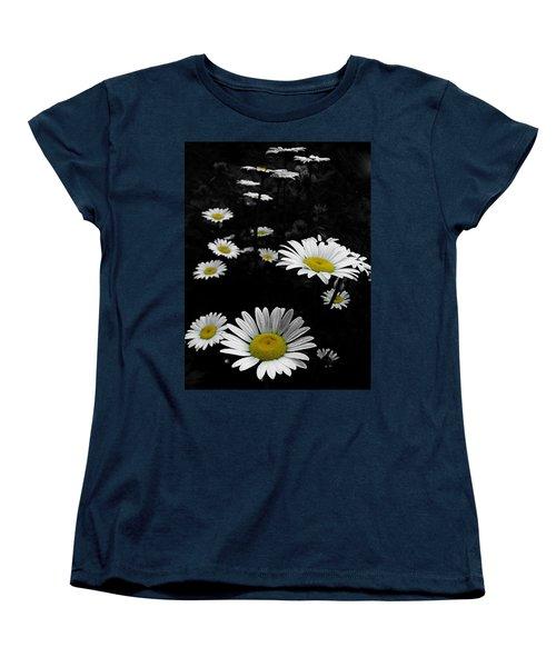 Daisies Women's T-Shirt (Standard Cut) by GJ Blackman