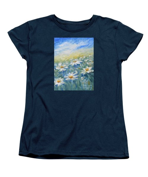 Daisies Women's T-Shirt (Standard Cut) by Jane  See