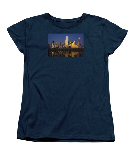 Dallas At Dusk Women's T-Shirt (Standard Cut) by Rick Berk