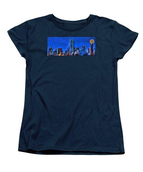 Dallas Skyline Hd Women's T-Shirt (Standard Cut) by Jonathan Davison