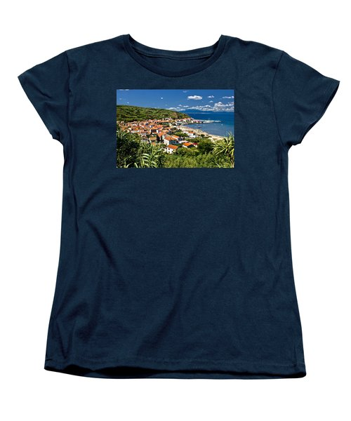 Dalmatian Island Of Susak Village And Harbor Women's T-Shirt (Standard Cut) by Brch Photography