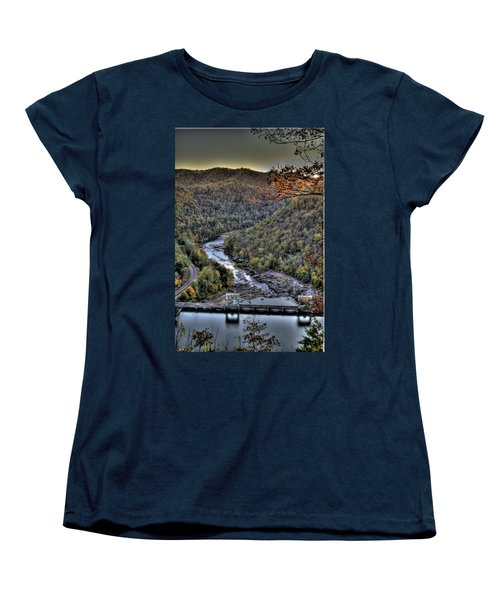 Women's T-Shirt (Standard Cut) featuring the photograph Dam In The Forest by Jonny D