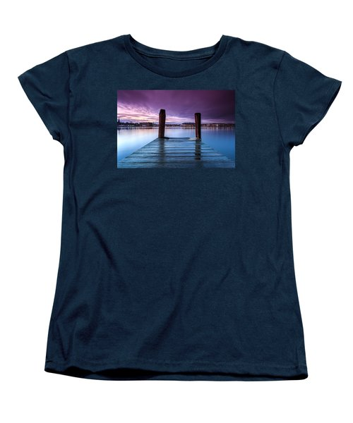 Women's T-Shirt (Standard Cut) featuring the photograph Damp Sunset by Jennifer Casey