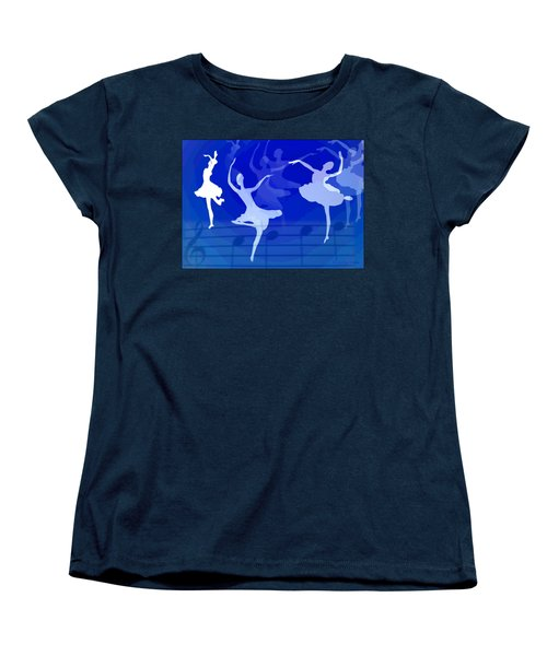 Dance The Blues Away Women's T-Shirt (Standard Cut) by Joyce Dickens