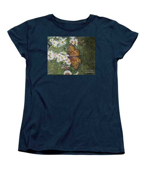 Women's T-Shirt (Standard Cut) featuring the painting Dance With The Daisies by Kimberlee Baxter
