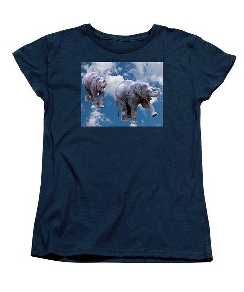 Dancing Elephants Women's T-Shirt (Standard Cut) by Jean Noren