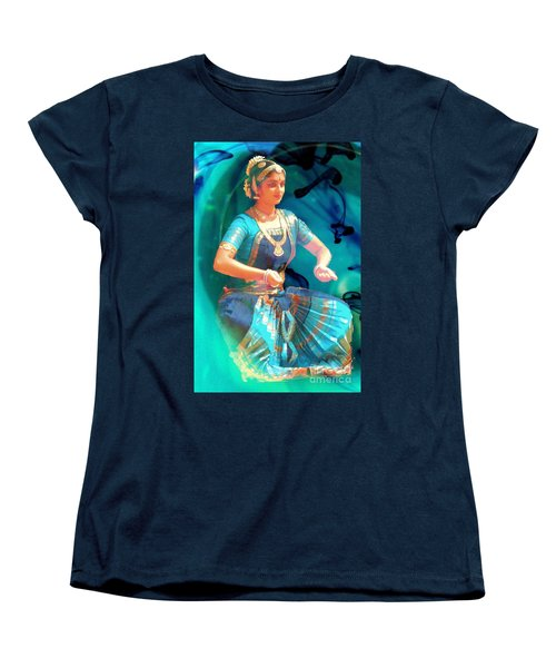 Dancing Girl With Gold Necklace Women's T-Shirt (Standard Cut) by Janette Boyd