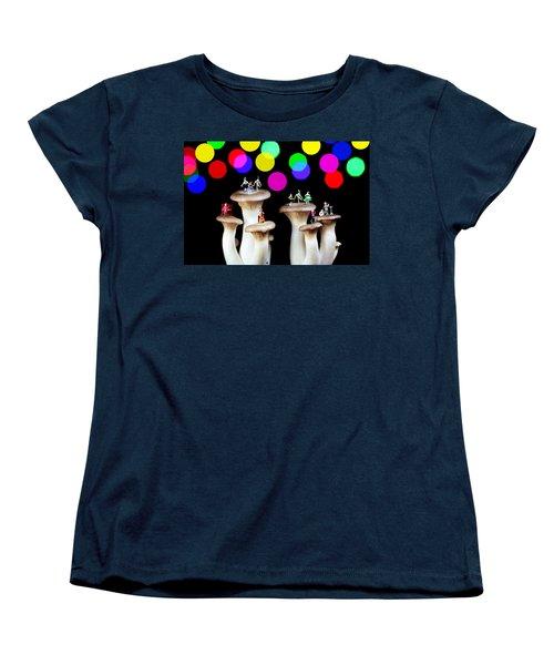 Dancing On Mushroom Under Starry Night Women's T-Shirt (Standard Cut) by Paul Ge