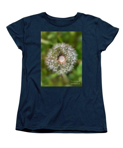 Women's T-Shirt (Standard Cut) featuring the photograph Dandelion by Carsten Reisinger
