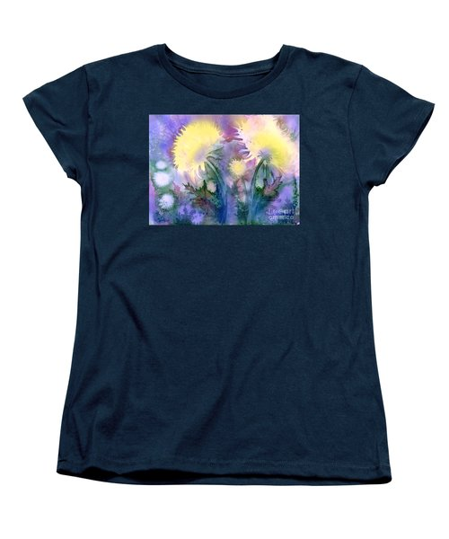Women's T-Shirt (Standard Cut) featuring the painting Dandelions by Teresa Ascone