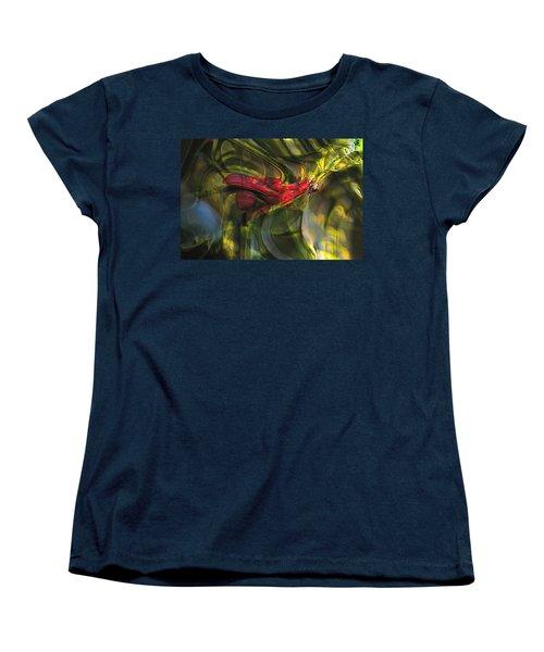 Women's T-Shirt (Standard Cut) featuring the digital art Dangerous by Richard Thomas
