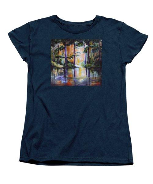 Dark Woods Women's T-Shirt (Standard Cut) by Nadine Dennis