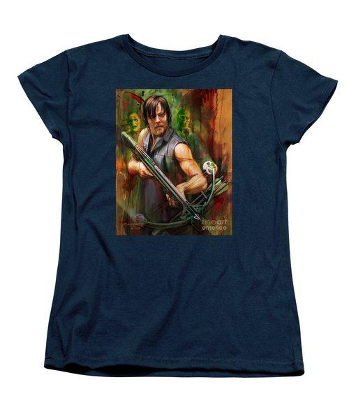 Daryl Dixon Walker Killer Women's T-Shirt (Standard Cut) by Rob Corsetti