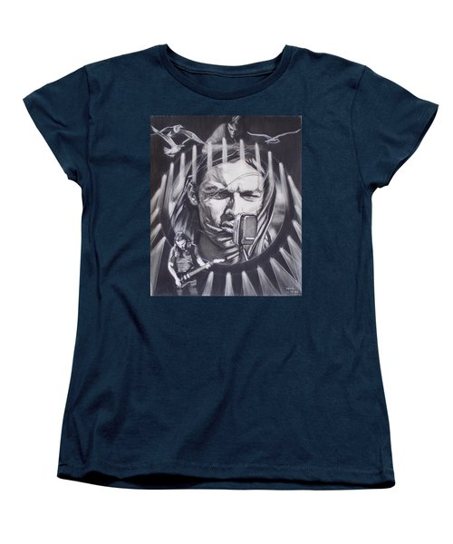 David Gilmour Of Pink Floyd - Echoes Women's T-Shirt (Standard Cut) by Sean Connolly
