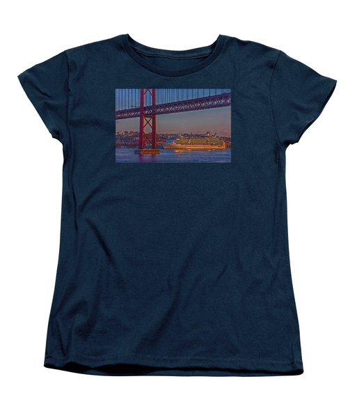 Dawn On The Harbor Women's T-Shirt (Standard Cut) by Hanny Heim