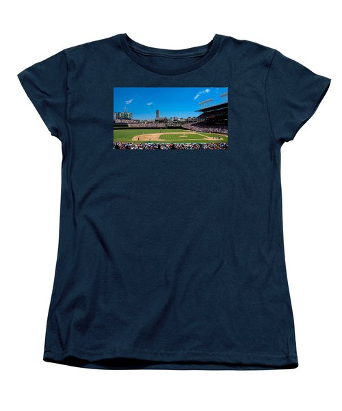 Day Game At Wrigley Field Women's T-Shirt (Standard Cut) by Anthony Doudt