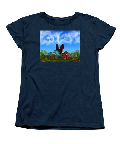 Women's T-Shirt (Standard Cut) featuring the digital art Daydreaming by Rosa Cobos