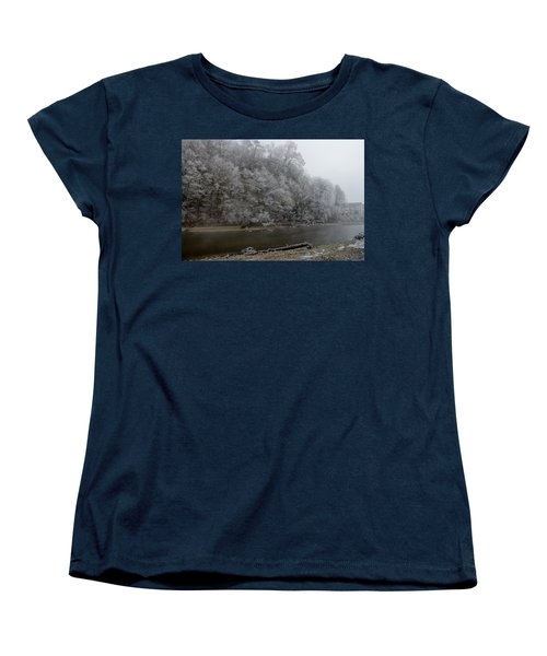 Women's T-Shirt (Standard Cut) featuring the photograph December Morning On The River by Felicia Tica