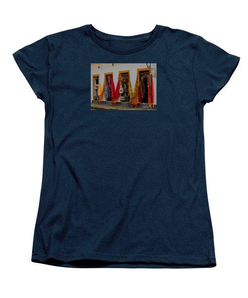 Women's T-Shirt (Standard Cut) featuring the photograph Decorated Doorways by Nareeta Martin