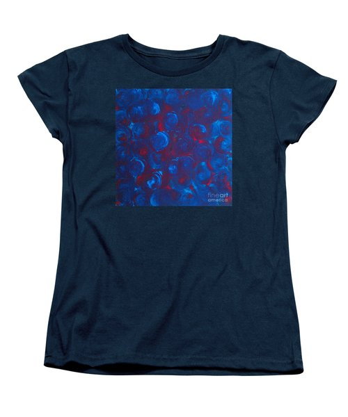 Women's T-Shirt (Standard Cut) featuring the painting Deep by Jacqueline McReynolds