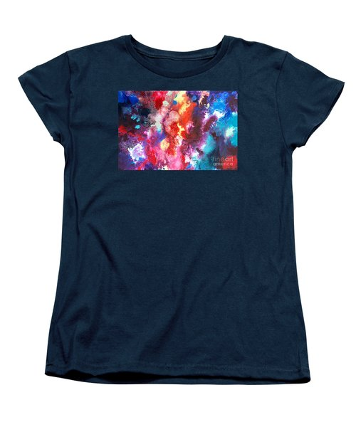Deep Water Coral Women's T-Shirt (Standard Cut) by Sally Trace
