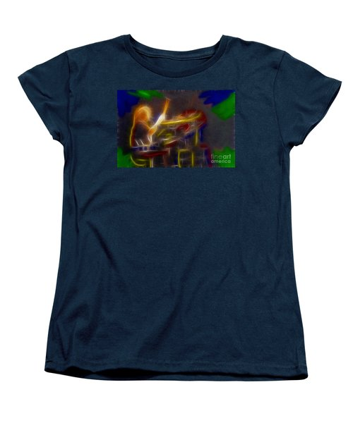Def Leppard-adrenalize-gf24-ricka-fractal Women's T-Shirt (Standard Cut) by Gary Gingrich Galleries